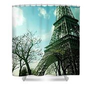 Eifell Tower View From Taxi II. Shower Curtain