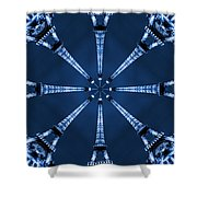 Eiffel Art 17 Shower Curtain