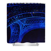 Eiffel Blue Shower Curtain