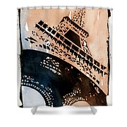 Eiffel IIi Shower Curtain