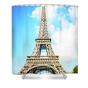 Eiffel Tower Portrait Shower Curtain