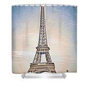 Eiffel Tower 13 Art Shower Curtain