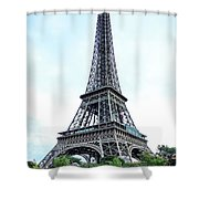 Eiffel Tower 9 Shower Curtain