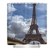 Eiffel Tower And Pont D'lena Shower Curtain