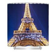 Eiffel Tower At Dusk. Shower Curtain