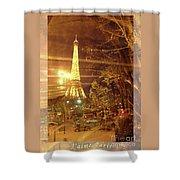 Eiffel Tower By Bus Tour Greeting Card Poster Shower Curtain by Felipe Adan Lerma