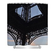 Eiffel Tower Corner Shower Curtain