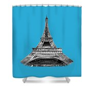 Eiffel Tower Design Shower Curtain