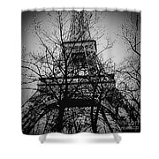 Eiffel Tower During The Winter. Shower Curtain