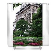 Eiffel Tower Garden Shower Curtain