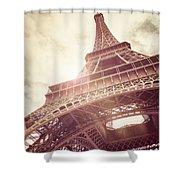 Eiffel Tower In Sunlight Shower Curtain