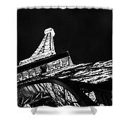 Eiffel Tower Las Vegas Shower Curtain