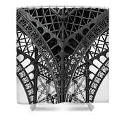 Eiffel Tower Leg Shower Curtain