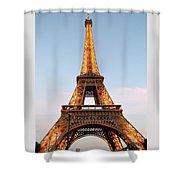 Eiffel Tower Lighted  Shower Curtain
