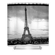 Eiffel Tower -panoramic. Shower Curtain