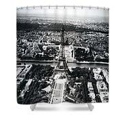 Eiffel Tower Paris In Wwii Shower Curtain