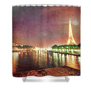 Eiffel Tower Reflections Shower Curtain