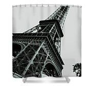 Eiffel Tower Slightly Askew Shower Curtain