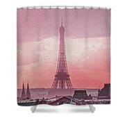 Eiffel Tower Sunset Art Shower Curtain