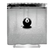 Eight Ball 3 Shower Curtain