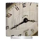 Eight Days A Week Clock Shower Curtain