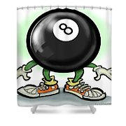 Eightball Shower Curtain