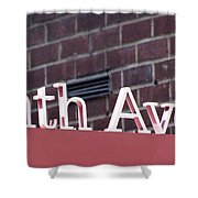 Eighth Avenue Sign New York Shower Curtain