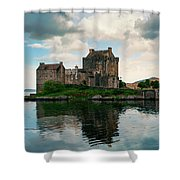 Eilean Donan Castle On A Cloudy Day Shower Curtain