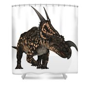 Einiosaurus On White Shower Curtain