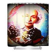 Einstein On Pot Shower Curtain