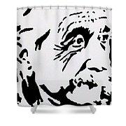 Einstein Waiting In Line Shower Curtain