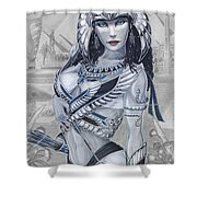 Ejo Nefersati Shower Curtain