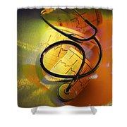 Ekg Stethoscope Composite Shower Curtain
