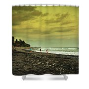 El Beach - El Salvador Shower Curtain