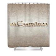 El Camino Emblem Shower Curtain