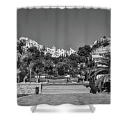 El Capistrano, Nerja Shower Curtain by John Edwards