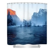 El Capitan At Blue Hour Shower Curtain