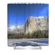 El Capitan Meadow Winter Yosemite National Park II Shower Curtain