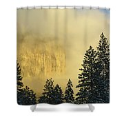 El Capitan Sunrise Glow Shower Curtain