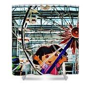 El Circulo De Cielo Ferris Wheel Shower Curtain