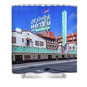 El Cortez Hotel On Fremont Street 2.5 To 1 Ratio Shower Curtain