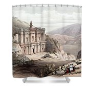 El Deir Petra 1839 Shower Curtain
