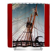 El Galeon  Shower Curtain
