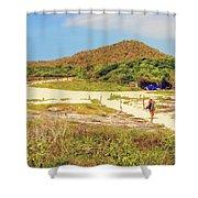 El Garrapatero Beach On Santa Cruz Island In Galapagos. Shower Curtain