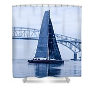 II Mostro And Blue Water Bridge Shower Curtain