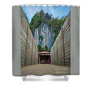 El Nido Alley Shower Curtain