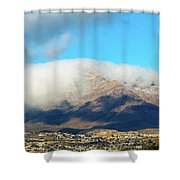 El Paso Franklin Mountains And Low Clouds Shower Curtain
