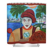 El Payaso Es Shower Curtain