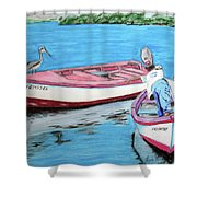 El Pescador De Guanica Shower Curtain