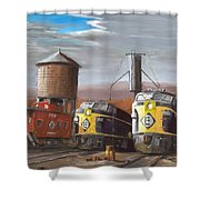 El Power Shower Curtain by Christopher Jenkins